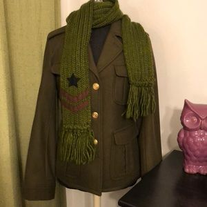 Urban Outfitters Coat and Scarf